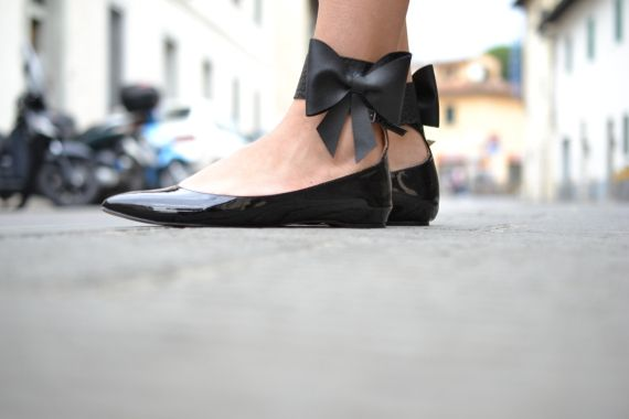 wrap bow shoes