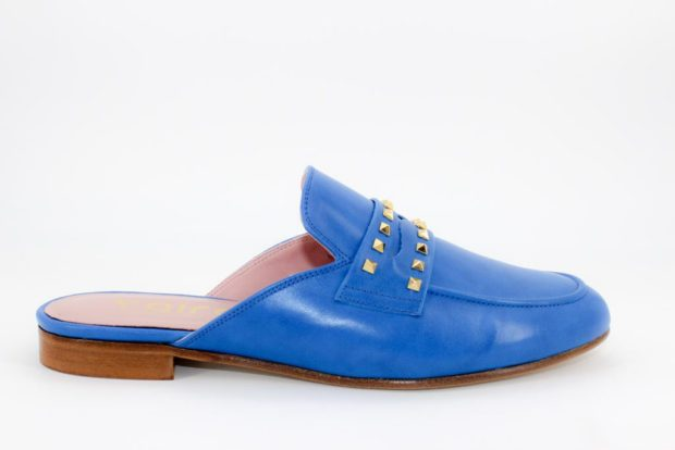 Zapatos Mules Azul