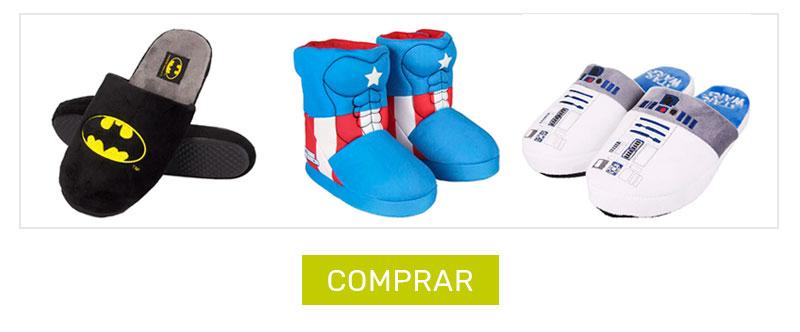 Zapatillas de casa superheroes