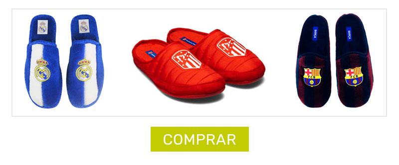 zapatillas de estar por casa - equipos de futbol