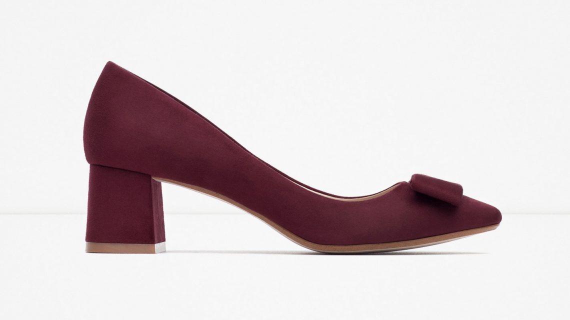 Zapatos tacón ancho